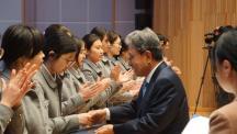 부산국제외고에서 10년째 장학금 전달